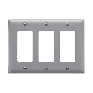 Pass & Seymour TP263-GRY P&S TP263-GRY TRADEMASTER PLATE 3G