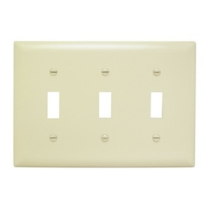 Pass & Seymour TP3-GRY P&S TP3-GRY TRADEMASTER PLATE 3G 3