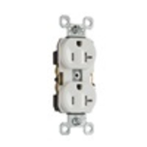 Pass & Seymour TR20-W Tamper Resistant Duplex Receptacle, 20 Amp, 125 Volt, White