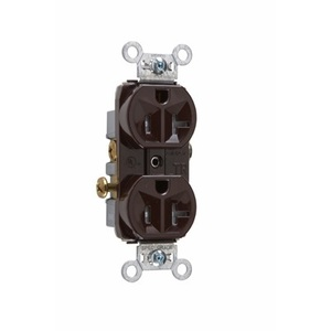 Pass & Seymour TR20 Tamper Resistant Duplex Receptacle, 20A, 125V, Brown