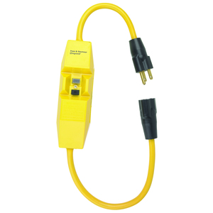 Pass & Seymour 1594-PC2M Portable In-Line GFCI Outlet Adapter, 15A, Manual Reset, 2' Cord