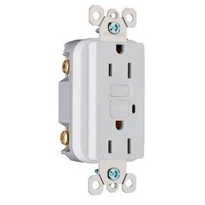 Pass & Seymour 1595-W GFCI Receptacle, 15A, 125V, White