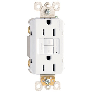Pass & Seymour 1597-W Spec-Grade GFCI Receptacle, Self-Test, 15A, 125V, White