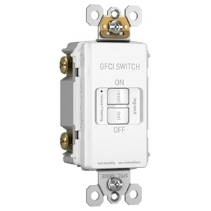 Pass & Seymour 2087-I Self-Test Dead Front GFCI Receptacle, 20A, 125V, Ivory