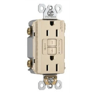 Pass & Seymour 2097-I Spec-Grade GFCI Receptacle, Self-Test, 20A, Ivory
