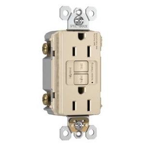 Pass & Seymour 2097 Spec-Grade GFCI Receptacle, Self-Test, 20A, Brown