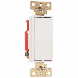 Pass & Seymour 2623-W Decora, 3-Way, 20 Amp, 120/277 Volt, White