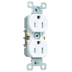 Pass & Seymour 3232-TRSW Tamper/Weather Resistant Duplex Receptacle, 15A, 125V, White