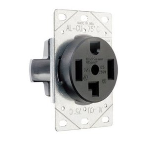 Pass & Seymour 3864 Receptacle, Flush Mount, 30 Amp, 125/250Volt