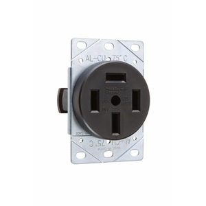 Pass & Seymour 3870 Flush Receptacle, 60A, 3PH Y 120/208V, 4P4W Non-Grounding