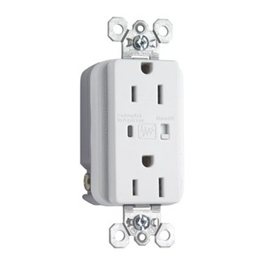 Pass & Seymour 5262-WSP Heavy Duty TVSS Receptacle, 15A, 125V, White, 5-15R