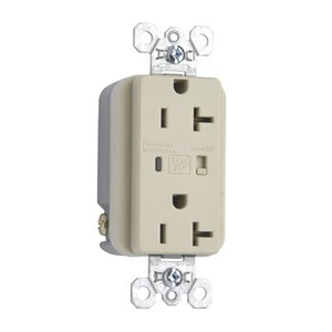 Pass & Seymour 5362-ISP Heavy Duty TVSS Receptacle, 20A, 125V, Ivory, 5-20R
