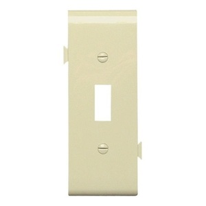 Pass & Seymour PJSC1-I Sectional Wallplate, Toggle, Center Section, Nylon, Ivory