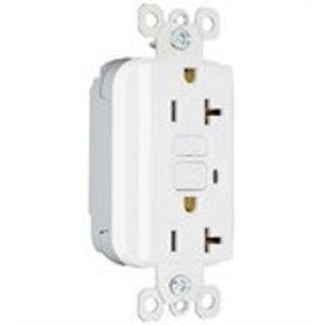 Pass & Seymour PT2095W PlugTail GFCI Receptacle, 15A, 125V, White