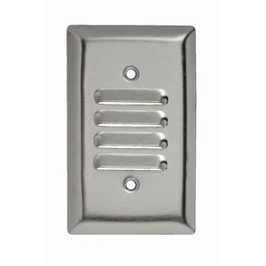 Pass & Seymour SS771 Louvre Wallplate, 1-Gang,  Stainless Steel Type, Vertical