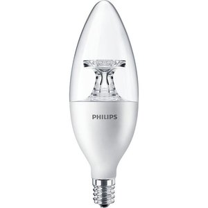 Philips Lighting 4.5B11/LED/827/E12/DIM-120V Dimmable LED Lamp, Blunt Tip, 4.5W, 120V