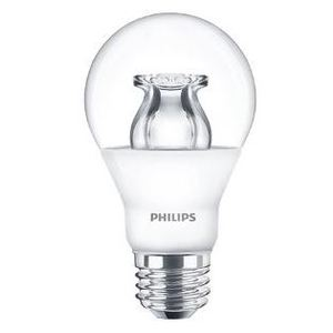 Philips Lighting 6A19/LED/827-22/CL/DIM-120V Dimmable LED Lamp, 6W, 120V, Type A19