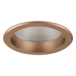 "Philips 1050RNDLCDP Shower Trim, Lensed, 5"", Clear Diffuse/Clear Flange"