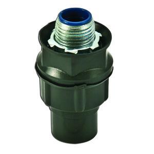 """Plasti-Bond PR5332 Liquidtight Connector, Straight, 1/2"""", PVC Coated Steel"""