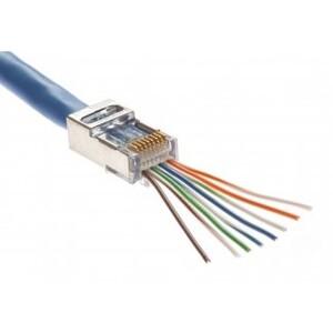 Platinum Tools 105020 Modular Plug, EZ-RJ45, Cat 5e/Cat 6, 24AWG
