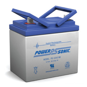 Power-Sonic PS-12350 Rechargeable Sealed Lead Acid Battery, 12V, 35Ah