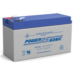 Power-Sonic PS-1270F1 Sealed Lead Acid Battery, 12V, 7A
