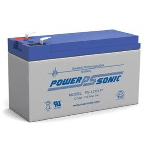 Power-Sonic PS-1270F1 Sealed Lead Acid Battery, 12 Volt, 7 Amp