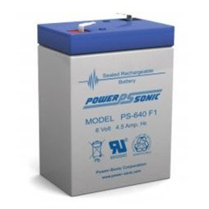 Power-Sonic PS640F Rechargeable Sealed Lead Acid Battery, 6 Volt
