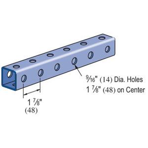 "Power-Strut P9200-10PG Channel - Bolt Holes/Back & Side, Steel, Pre-Galvanized, 1-5/8"" x 1-5/8"" x 10'"