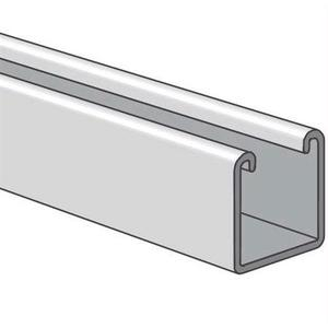 "Power-Strut PS200-10PG Channel - No Holes, Steel, Pre-Galvanized, 1-5/8"" x 1-5/8"" x 10'"
