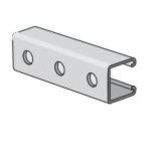 "Power-Strut PS200H-10PG Channel - Bolt Holes, 1-7/8"" Centers, Steel, Pre-Galvanized, 1-5/8"" x 1-5/8"" x 10'"