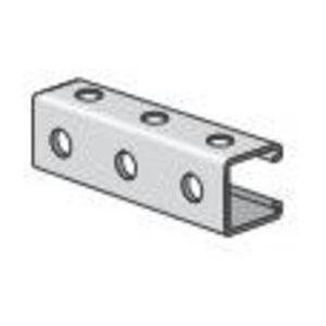 "Power-Strut PS200H3-10PG Channel - Bolt Holes/Back & Side, Steel, 1-5/8"" x 1-5/8"" x 10'"