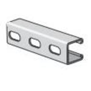 "Power-Strut PS210EH-10PG Channel - Elongated Holes, Steel, Pre-Galvanized, 1-5/8"" x 1-5/8"" x 10'"