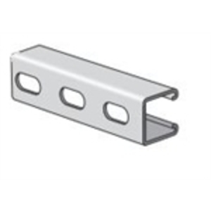 """Power-Strut PS210EH-20PG Channel - Elongated Holes, Steel, Pre-Galvanized, 1-5/8"""" x 1-5/8"""" x20'"""