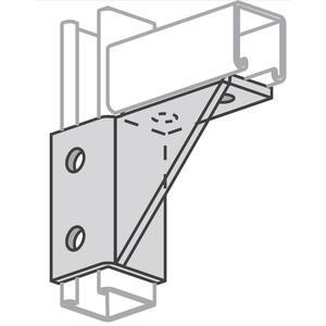Power-Strut PS2129-R-EG Single Corner Gussetted Connection