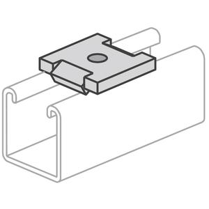 "Power-Strut PS2504-1/2-EG Square Washer, Flat, 1/2"", With Channel Guide, Steel"