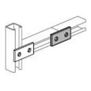 "Power-Strut PS601-EG Two Hole Splice Plate, Length: 3-1/2"", Steel/Electro-Galvanized"