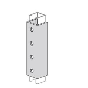 Power-Strut PS646-EG Splice Clevis, 4 Holes, Steel, Electro Galvanized