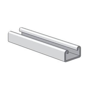 "Power-Strut PS700J-10-AL Channel - No Holes, Aluminum, 13/16"" x 13/32"" x 10'"
