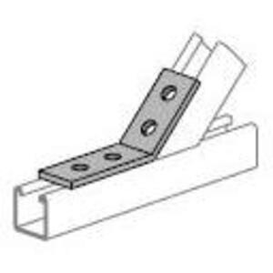 Power-Strut PS781-45-DEG-EG Four Hole Open Angle, 45°, Steel/Electro-Galvanized