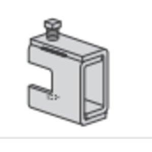 """Power-Strut PS858-1/2-EG Beam Clamp, 2-1/2"""" Wide, Rod Size: 1/2"""", Heavy Duty, Steel"""