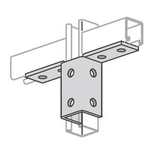 Power-Strut PS913-EG Double Wing Connector, 10-Hole, Steel/Galvanized