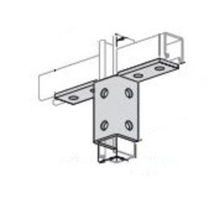 """Power-Strut PS913SS6 Double Wing Connector, 10-Hole, 3-7/8"""" Height, Stainless Steel"""