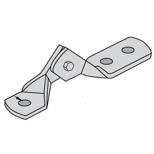 "Power-Strut PS9403-1/2-EG Hinge Connector, 3-Hole, 1/2"", Steel/Electro-Galvanized"