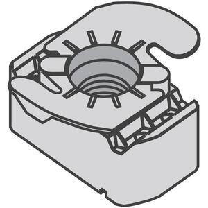 Power-Strut PSTG-1/4-EG Top Grip Nut, Size: 1/4-20, Steel/Electro-Galvanized