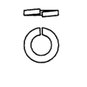 Power-Utility Products LW-1/4-EG PPU LW-1/4-EG Lock Washer 1/4IN