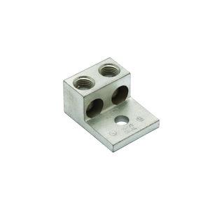 Burndy K2A25U Mechanical Lug, 2-Conductor, 1-Hole Mount, Aluminum, 14 - 1/0 AWG
