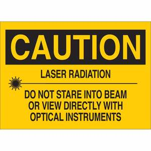 22589 RADIATION & LASER SIGN