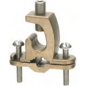 "Arlington 719DB Bare Wire Ground Clamp, Open Lug, 3/8"" to 1"", Bronze"