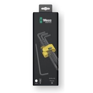 Wera Tools 05133180001 950 PKL/9 SZ N SB L-key set, imperial, BlackLaser, 9 pieces